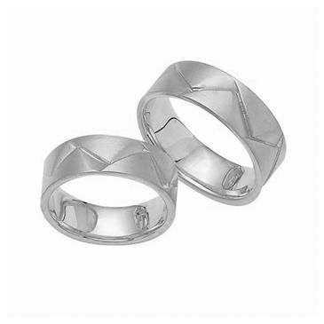 Platinum His & Hers Classic 102 Wedding Band Set HH102PLAT