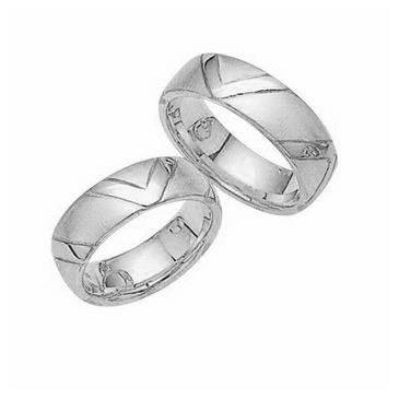 Platinum His & Hers Classic 107 Wedding Band Set HH107PLAT