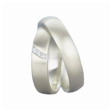 Platinum His & Hers 0.09 ct Diamond 113 Wedding Band Set HH113PLAT