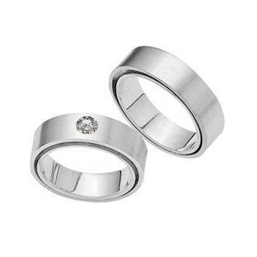 Platinum His & Hers 0.14 ct Diamond 115 Wedding Band Set HH115PLAT