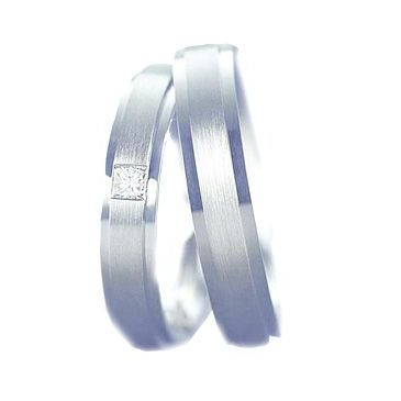 Platinum His & Hers 0.07 ct Diamond 116 Wedding Band Set HH116PLAT