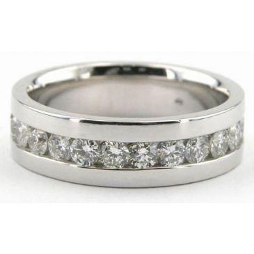 14K Gold 7mm Diamond Wedding Bands Rings 0884