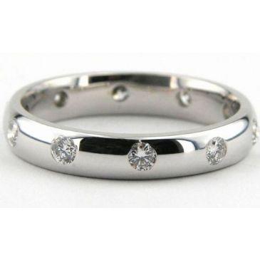950 Platinum 4mm Diamond Wedding Bands Rings 1954