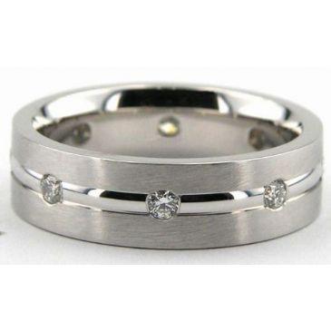 Platinum 950 7mm Diamond Wedding Bands Rings 0875