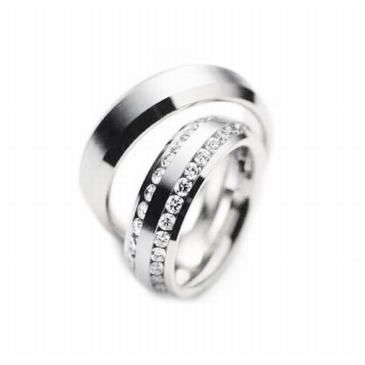 Platinum His & Hers Gold 2.00 ct Diamond 129 Wedding Band Set HH129PLT
