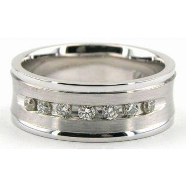950 Platinum 7mm Diamond Wedding Bands Rings 1231