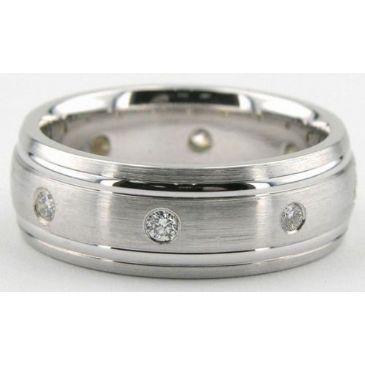 Platinum 950 7mm Diamond Wedding Bands Rings 0871