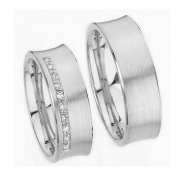 Platinum His & Hers Gold 0.22 ct Diamond 144 Wedding Band Set HH144PLT