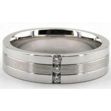 950 Platinum 6mm Diamond Wedding Bands Rings 1949
