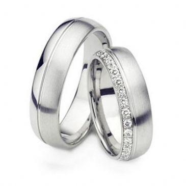Platinum Gold His & Hers Diamond Wedding Band Set 0.5 ct. tw. HH154PLT