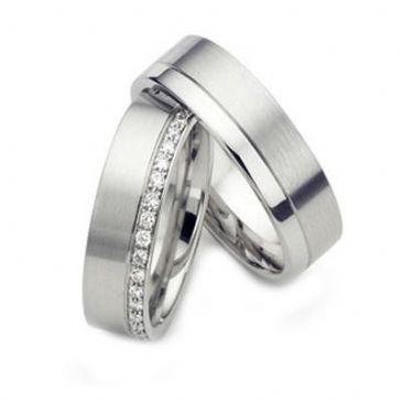 Platinum Gold His & Hers Diamond Wedding Band Set 0.5 ct. tw. HH156PLT