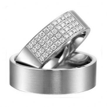 18k Gold His & Hers Diamond Wedding Band Set 0.7 ct. tw. HH15718K