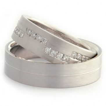 Platinum Gold His & Hers Diamond Wedding Band Set 0.6 ct. tw. HH158PLT