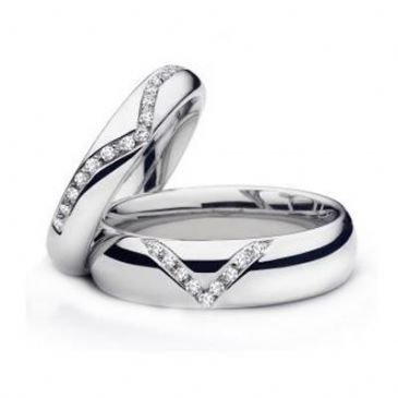 18k Gold His & Hers Diamond Wedding Band Set 0.23 ct. tw. HH15918K