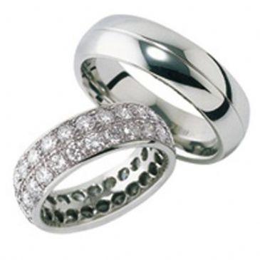 Platinum Gold His & Hers Diamond Wedding Band Set 2 ct. tw. HH161PLT