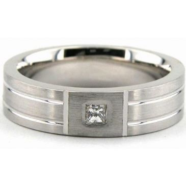 950 Platinum Gold 6mm Diamond Wedding Bands Rings 1962
