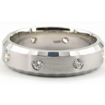 950 Platinum 6mm Diamond Wedding Bands Rings 1951