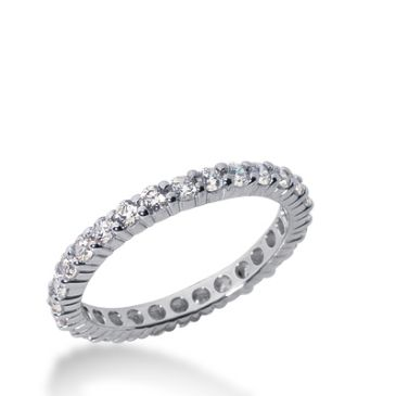 18k Gold Diamond Eternity Wedding Bands, Shared Prong Setting 1.00 ct. DEB100318K