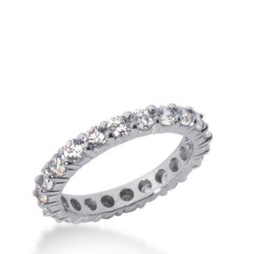 18k Gold Diamond Eternity Wedding Bands, Shared Prong Setting 2.00 ct. DEB1001018K