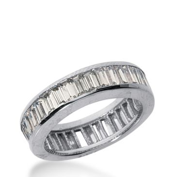 18k Gold Diamond Eternity Wedding Bands, Channel Setting 4.00 ct. DEB21718K