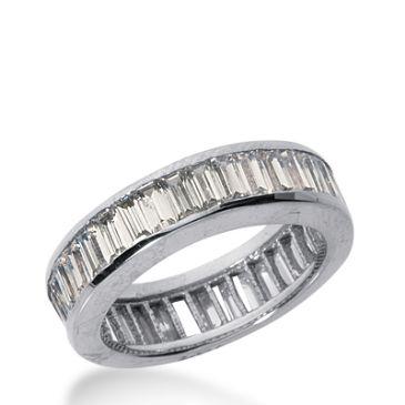 950 Platinum Diamond Eternity Wedding Bands, Channel Setting 4.00 ct. DEB217PLT