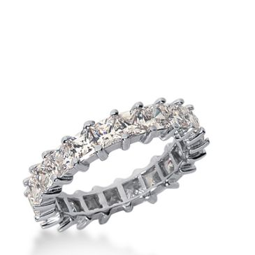 18k Gold Diamond Eternity Wedding Bands, Shared Prong Setting 4.00 ct. DEB23118K