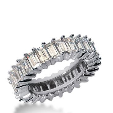 18k Gold Diamond Eternity Wedding Bands, Shared Prong Setting 4.00 ct. DEB24018K