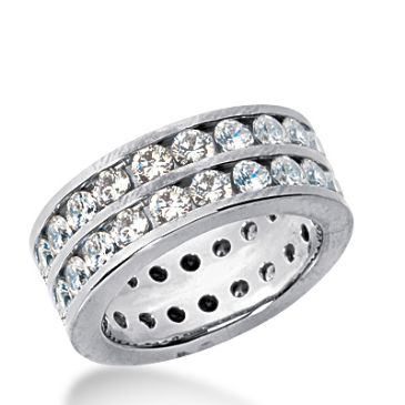 950 Platinum Diamond Eternity Wedding Bands, Channel Setting 3.50 ct. DEB1597PLT
