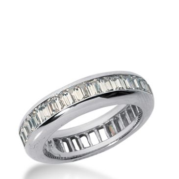 18k Gold Diamond Eternity Wedding Bands, Channel Setting 3.00 ct. DEB21618K