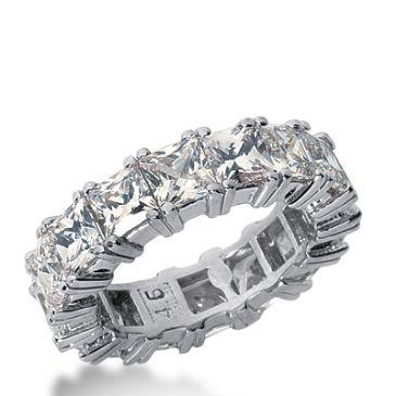 18k Gold Diamond Eternity Wedding Bands, Prong Setting 8.00 ctw. DEB1814518K