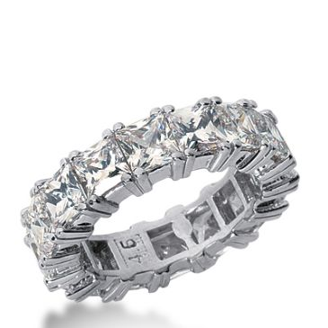 950 Platinum Diamond Eternity Wedding Bands, Prong Setting 8.00 ctw. DEB18145PLT