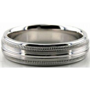 14K Gold 5.5mm Diamond Cut Wedding Band 684