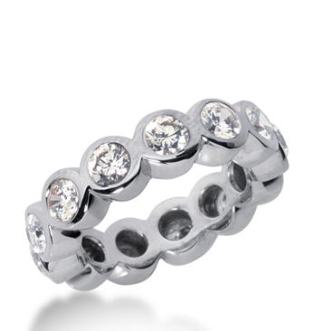 950 Platinum Diamond Eternity Wedding Bands, Bezel Setting 2.50 ct. DEB10420PLT