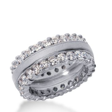 950 Platinum Diamond Eternity Wedding Bands, Prong Setting 3.50 ct. DEB282PLT