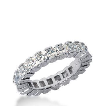 18k Gold Diamond Eternity Wedding Bands, Prong Setting 3.75 ctw. DEB181318K