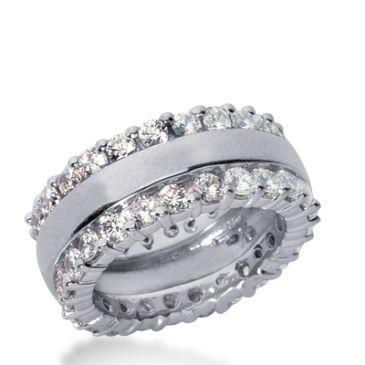 18k Gold Diamond Eternity Wedding Bands, Prong Setting 2.50 ct. DEB28118K