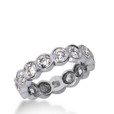 18k Gold Diamond Eternity Wedding Bands, Bezel Setting 2.00 ct. DEB2101518K