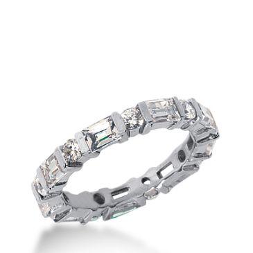 18k Gold Diamond Eternity Wedding Bands, Bar Setting 2.00 ctw. DEB17518K