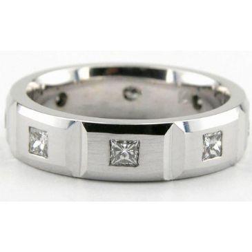 950 Platinum 6mm Diamond Wedding Bands Rings 1959