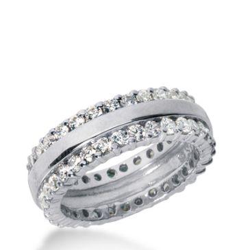 950 Platinum Diamond Eternity Wedding Bands, Prong Setting 2.00 ct. DEB280PLT