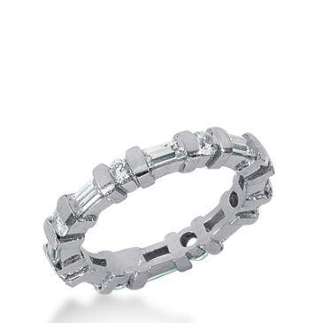 950 Platinum Diamond Eternity Wedding Bands, Bar Setting 1.50 ctw. DEB174PLT