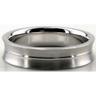 Platinum 950 4.5mm Diamond Cut Wedding Band 670-4