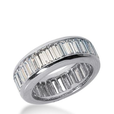 18k Gold Diamond Eternity Wedding Bands, Channel Setting 6.00 ct. DEB21818K