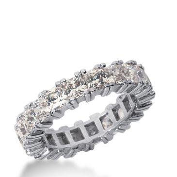 18k Gold Diamond Eternity Wedding Bands, Prong Setting 5.50 ctw. DEB1813518K