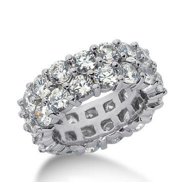 18k Gold Diamond Eternity Wedding Bands, Prong Setting 7.50 ct. DEB28818K