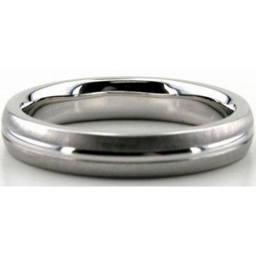 Platinum 950 4mm Diamond Cut Wedding Band 660-4