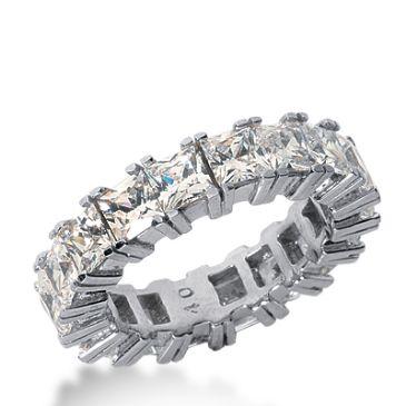 18k Gold Diamond Eternity Wedding Bands, Prong Setting 7.00 ctw. DEB181418K
