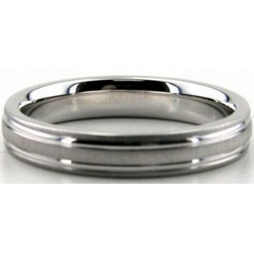 Platinum 950 4mm Diamond Cut Wedding Band 661-4