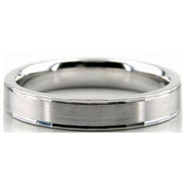 Platinum 950 4mm Diamond Cut Wedding Band 627-4