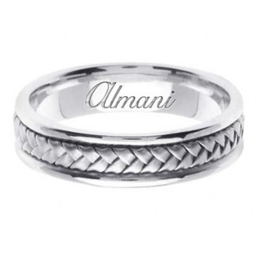 950 Platinum 5.5mm Handmade Wedding Ring 049 Almani